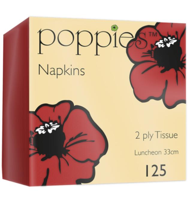 CRG Red Napkin 33cm 2Ply
