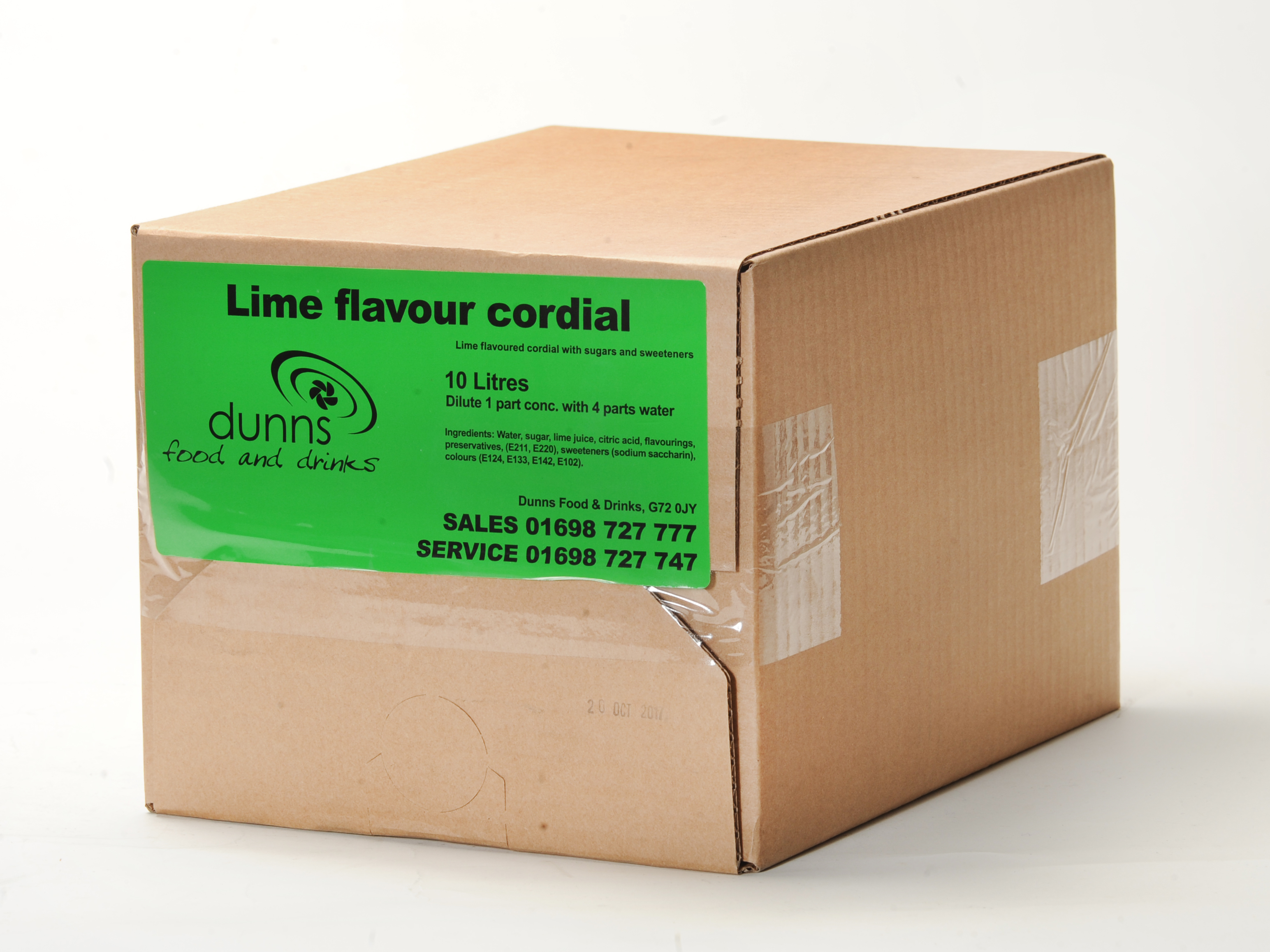 Dunn Draught Lime Cordial