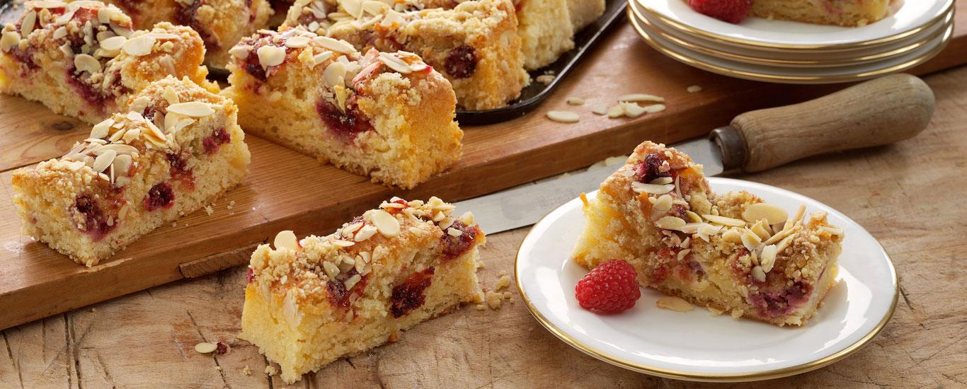 Raspberry & Almond Slice