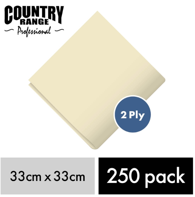 CRG Cream Napkin 33c 2Ply