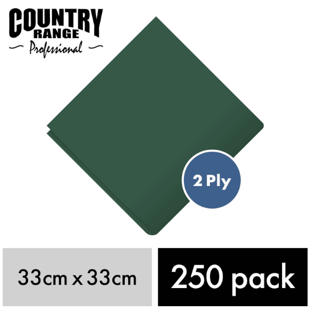 CRG Green Napkin 33c 2Ply