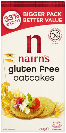 Nairns Gluten Fr Oatcakes