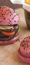 Red Burger Buns