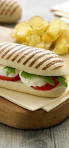 White Grill Marked Panini