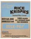 Kelloggs Rice Krispie 10k